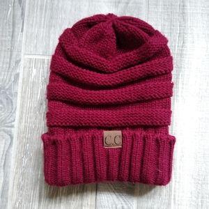 C.C women's Thick Soft Knit beanice cap Hat